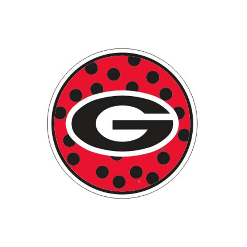 "UGA 4"" Round Polka Dot Decal"