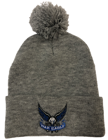 South Forsyth Gray Embroidered Beanie