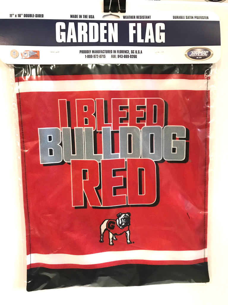 "UGA ""I Bleed Bulldog Red"" Garden Flag"