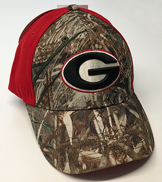 Georgia Bulldogs UGA Red and Camo Super G Logo Adjustable Hat
