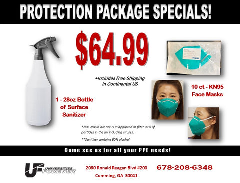 FREE SHIPPING - Personal Protection Package with KN95 Masks