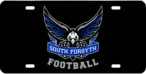 South Forsyth Football Black Gloss License Plate