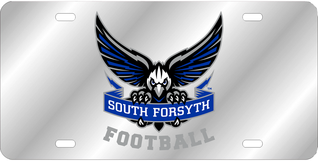 South Forsyth Football Chrome License Plate
