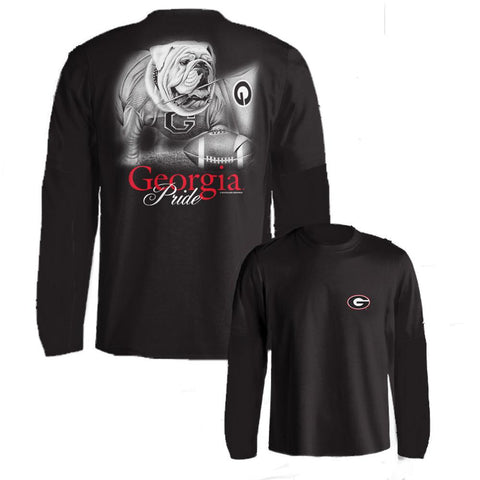 Georgia Bulldogs UGA Pride Black Long Sleeve Adult T-Shirt