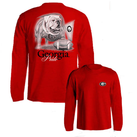 Georgia Bulldogs UGA Pride Red Long Sleeve Adult T-Shirt