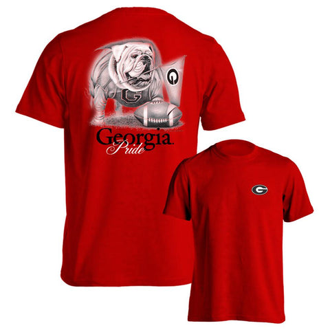 Georgia Bulldogs UGA Pride Red Adult T-Shirt
