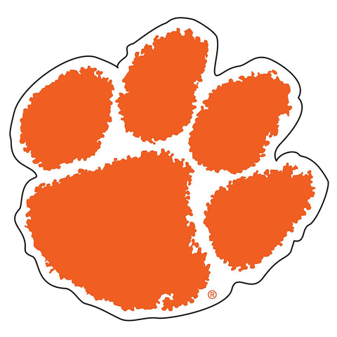 Clemson Tigers Paw Orange Decal Sticker 6""
