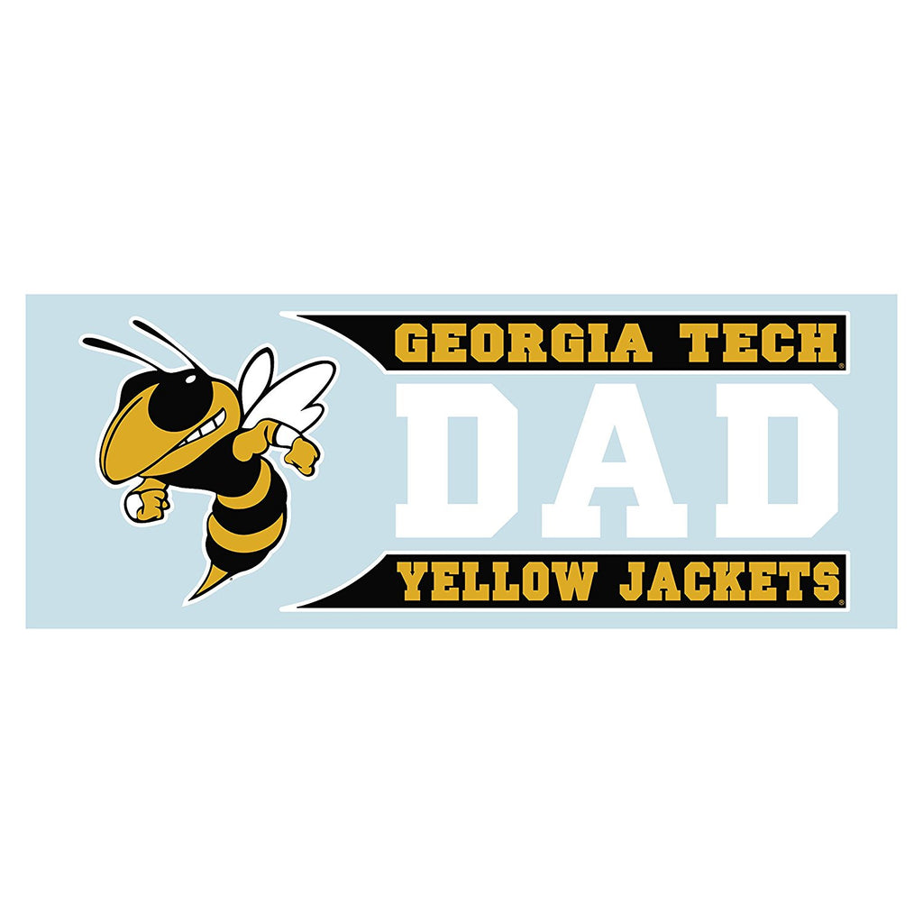 Georgia Tech Yellow Jackets GT Dad Decal Sticker 6""