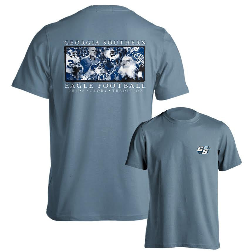 Georgia Southern University Eagles GSU Be Worthy Short Sleeve Blue T-Shirt Multiple Sizes
