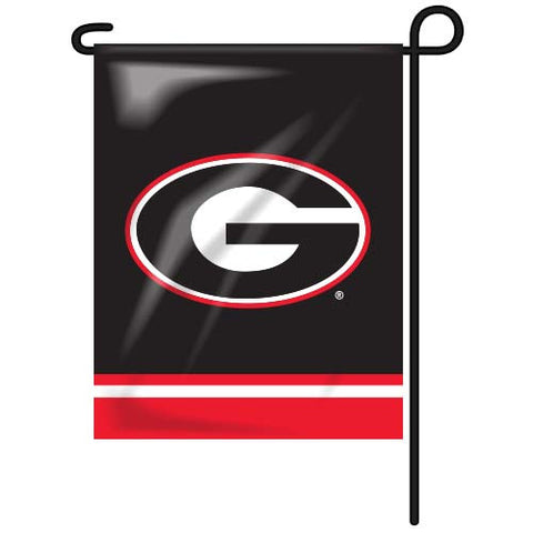UGA Flag Super G Black-Red Garden Flag