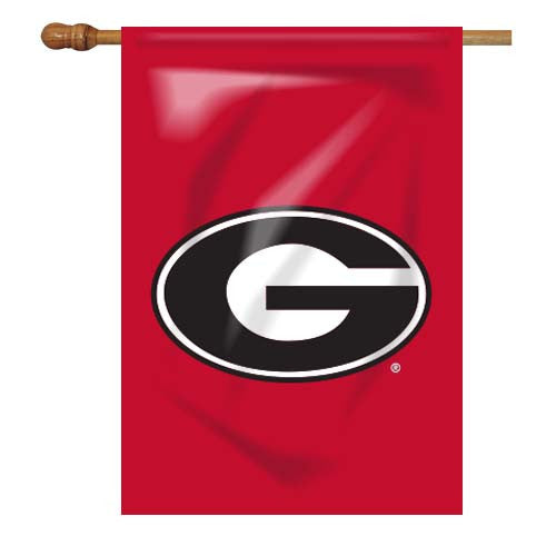 Georgia Bulldogs UGA Super G Red House Flag