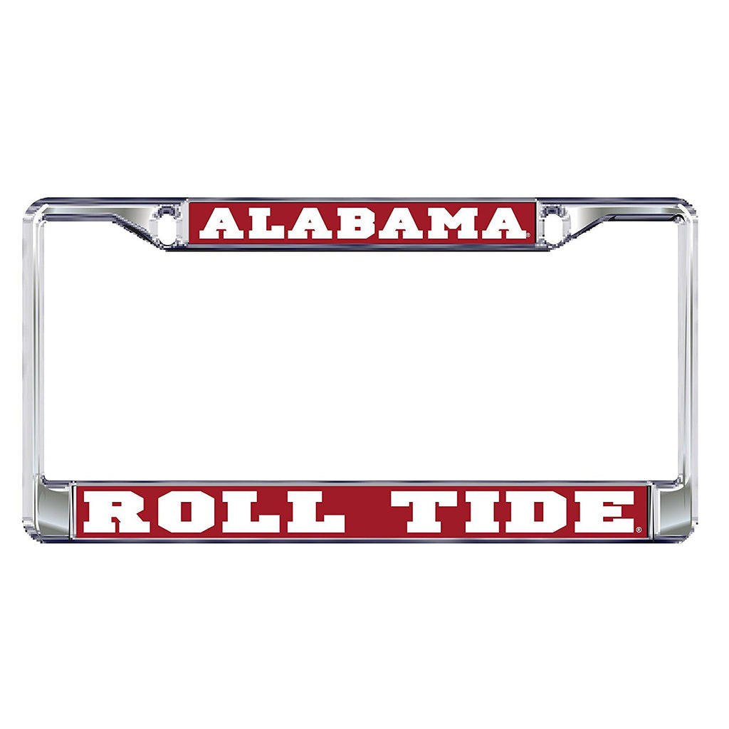 Alabama Crimson Tide Roll Tide Metal Domed License Plate Frame
