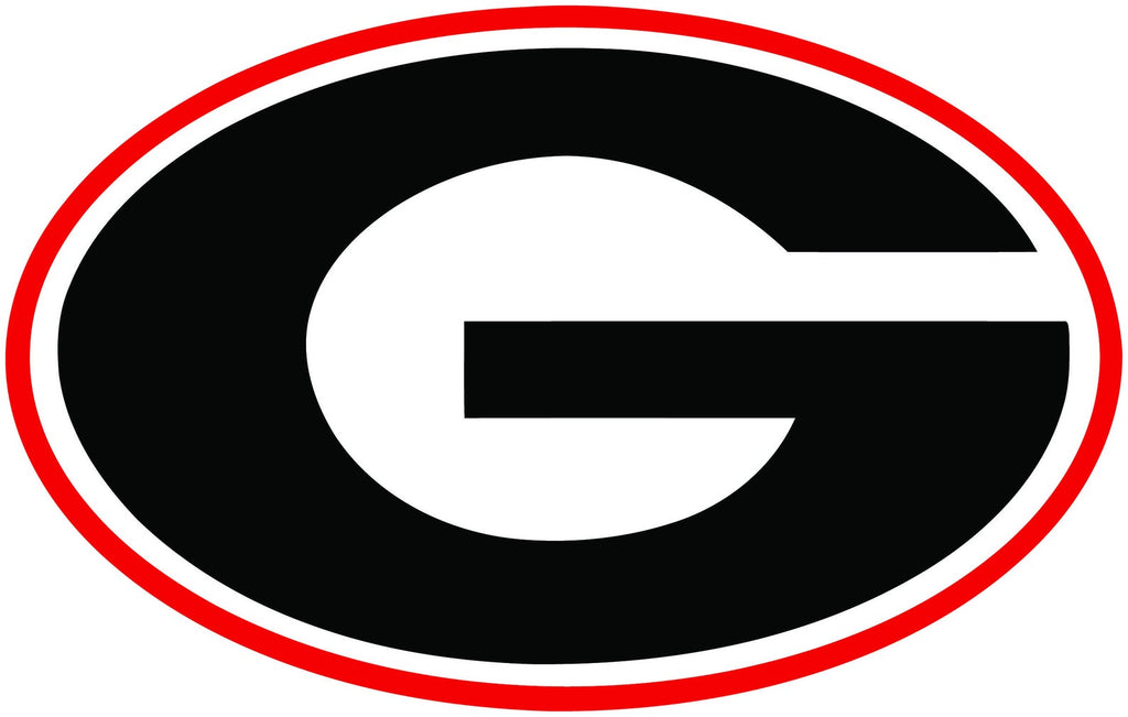 Georgia Bulldogs UGA Super G Logo Cooler Cals Decal 3""