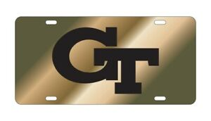 Georgia Tech Yellow Jackets GT Reflective Gold License Plate