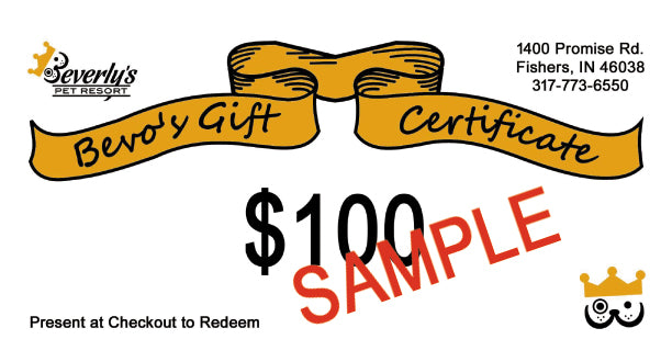 $100 Gift Certificate - Delivered Via Email