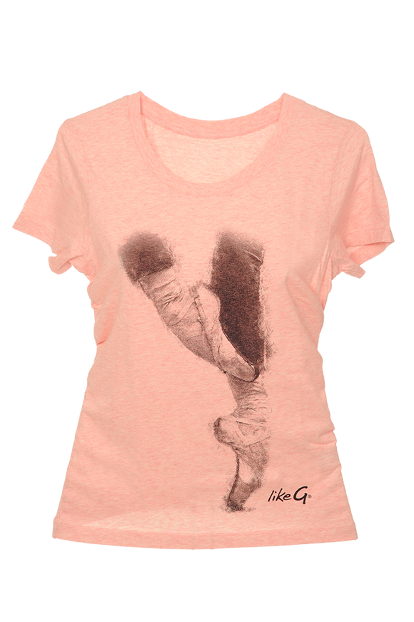 Like-G fitted pink pointe tee