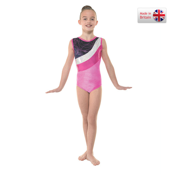 Tappers and Pointers Pink velvet and foil leotard Gym/30
