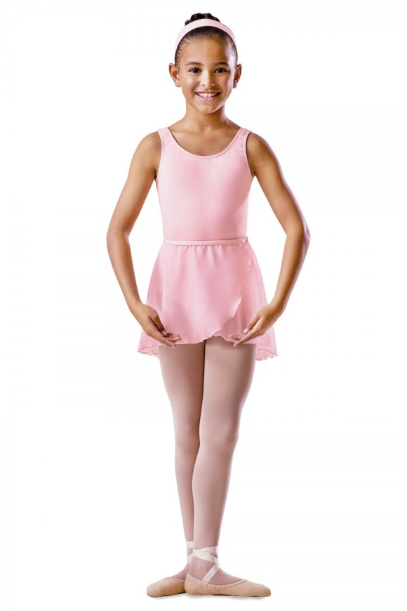 Bloch chiffon pull on wrap skirt