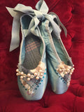 Custom made decorated pointe shoes