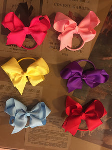 Hair bows on bobbles