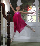 Just Ballet Cerise lyrical dress - Just Ballet