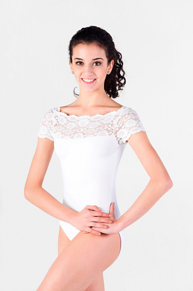 Lace Top Leotard E10945LE by So Danca