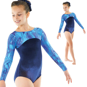 Tappers and Pointers velvet and sparkle leotard Gym/23