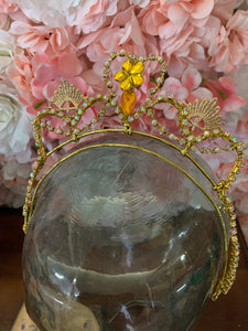 Golden Rapunzel Tiara - Hire Only