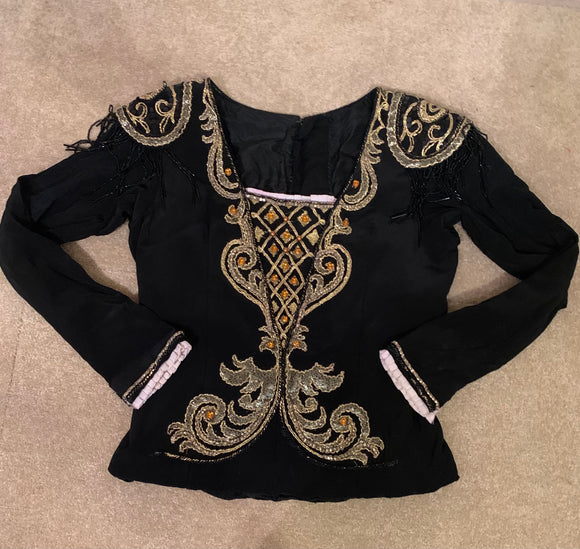 Black embellished tunic - Hire Only