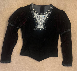 Bolshoi black velvet Prince's Tunic - Hire Only