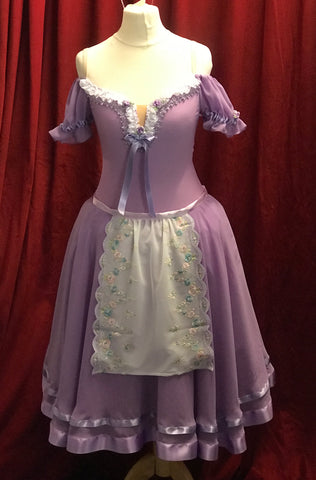 Lilac peasant dress - Party Girl - HIRE ONLY