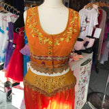 Orange Silk Arabian costume - Hire Only