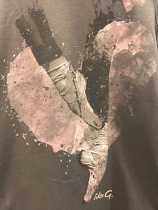 Like-G Pointe shoe heart tee