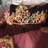 Burgundy and gold Raymonda tutu - Hire only