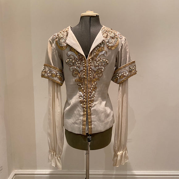 Classic Pale Blue Prince Charming Tunic - Hire Only