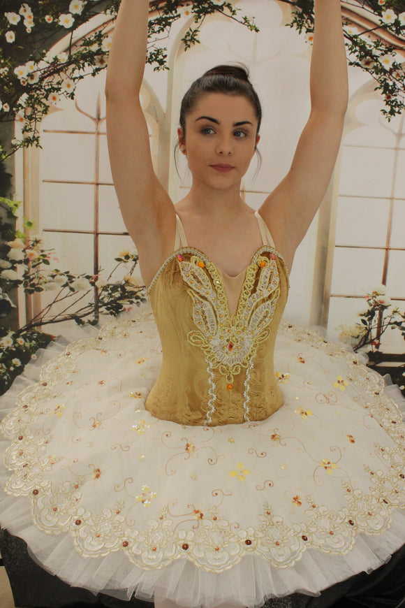 Just Ballet Old Gold professional tutu - hire only