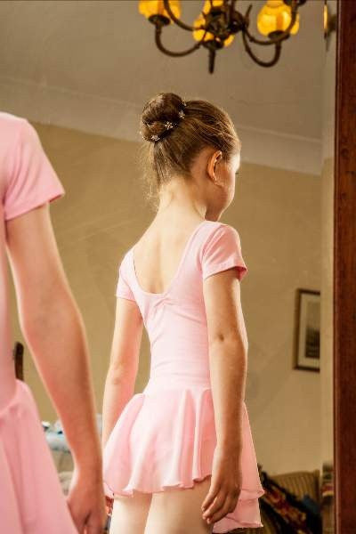 Just Ballet skirted leotard with diamante trim