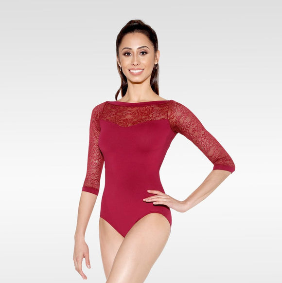 So Danca lace sleeve leotard E-10999