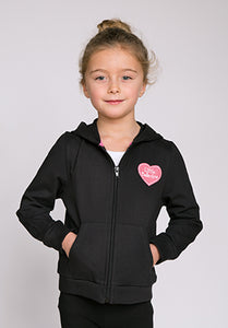 Little Ballerina Black Hoody