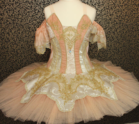 Just Ballet Peach Aurora professional tutu - Hire only