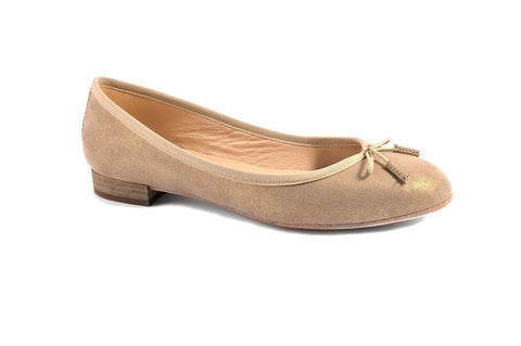 Merlet golden ballerina pumps