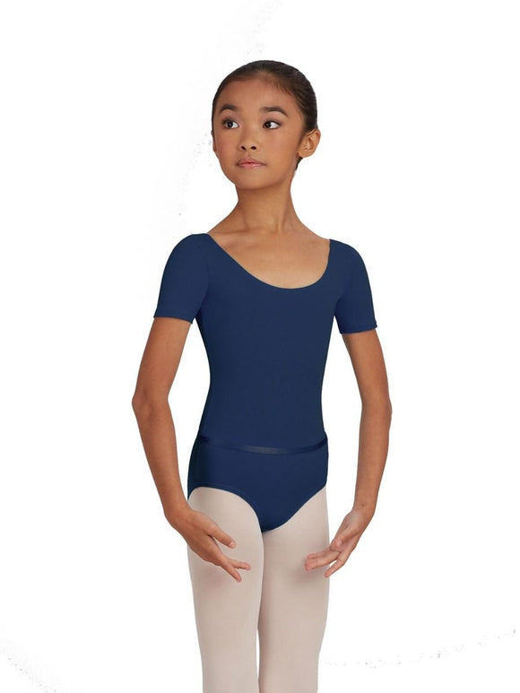 Capezio Child Short Sleeve Leotard with Belt