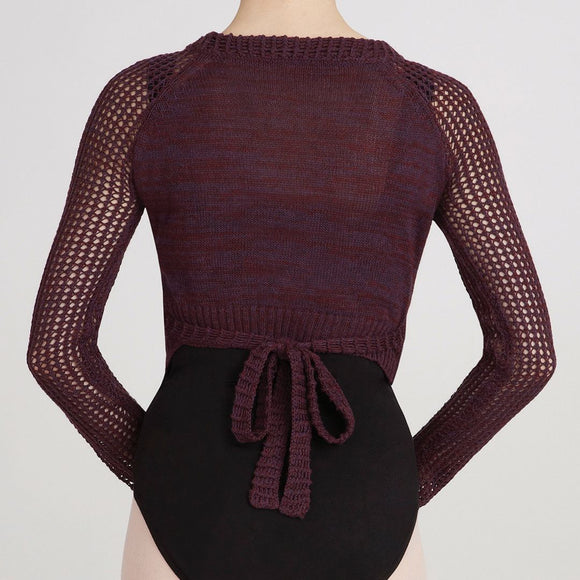 Capezio Knitted Crop Wrap Top