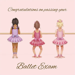 Little ballerina exam card - Just Ballet