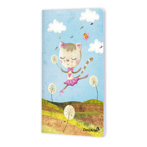 Danzarte Dancing cat A5 notebook - Just Ballet
