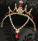 Gamzatti Red and Gold Head Piece Tiara