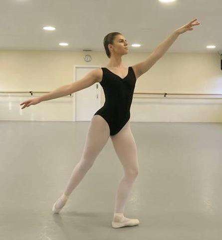 Just Ballet black tank leotard