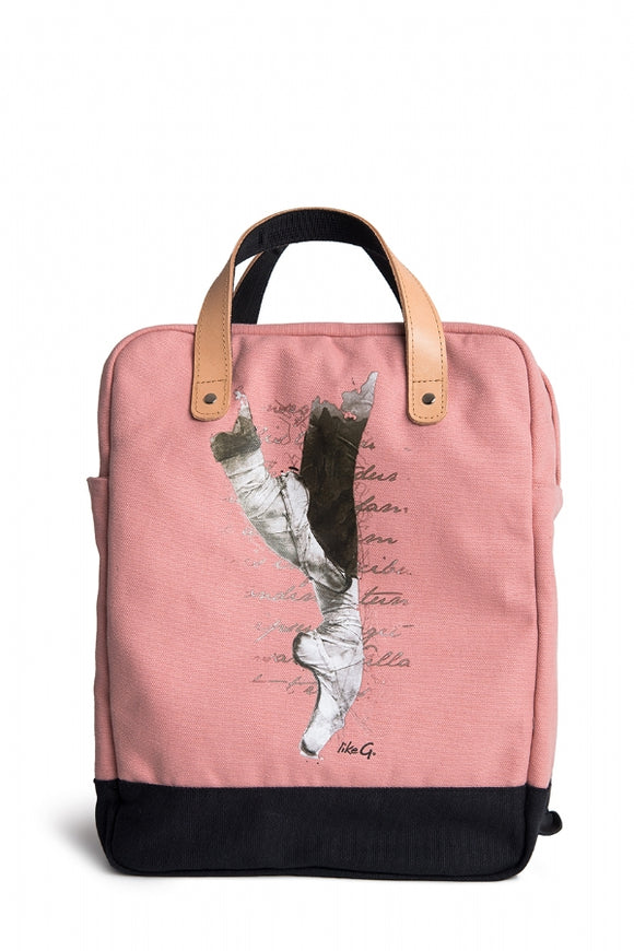Like-G Pointe shoe rucksack - Pink