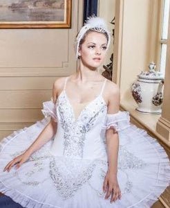 Swan Lake feather headdress with tiara