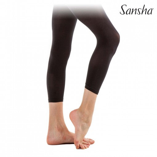 Sansha footless microfibre ballet tights